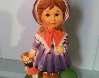 Vintage Little Girl Christmas Ornament