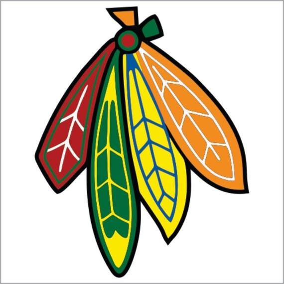 set of chicago blackhawks feather custom by thekingofdecals