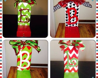 Personalized wood stocking holders