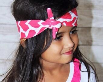 Hearts Knotted Headband