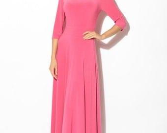 Formal Pink Maxi Dress,Simple Evening Dress Evening Dress Bridesmaid.