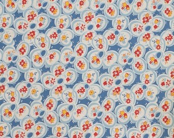 Punctuation Ditto Daisies Blue by American Jane for Moda Fat Quarter OOP HTF