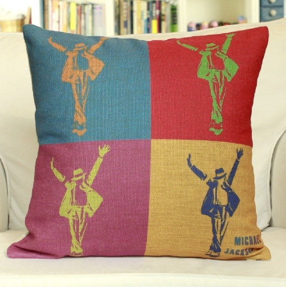 Throw Pillows Matching Curtains : The Michael Jackson throw pillow case pillow by sweethome201409