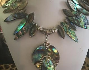 SOLD--SOLD--Abalone Necklace