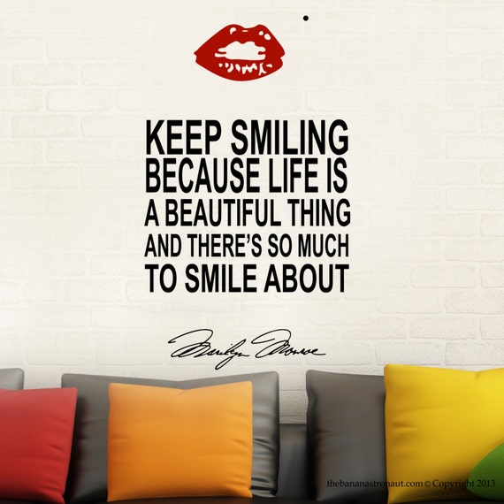 Short Marilyn Monroe Quotes: Marilyn Monroe Wall Decal Stickers Decor Easy Decal With