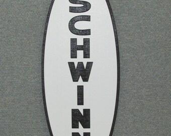 "SCHWINN Head Badge Vintage Style 16"" Wood Wall Sign"