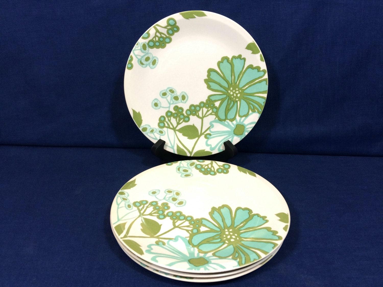 Vintage and rare villeroy and boch porcelain salad plates for Villeroy and boch plates