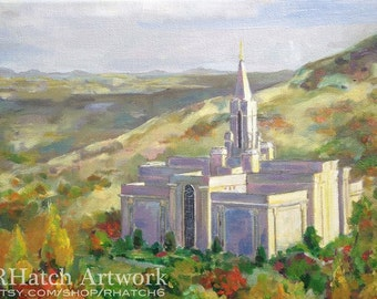 Bountiful Seasons, LDS temple PRINT, variety of sizes available