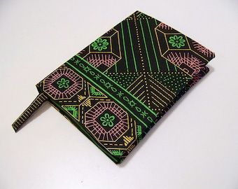 Travel journal, hand bound journal with African fabric cover, Mothers Day Gift