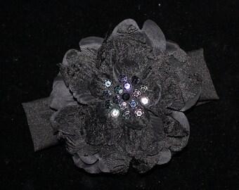 Black Lovely Lace Flower Baby Headband