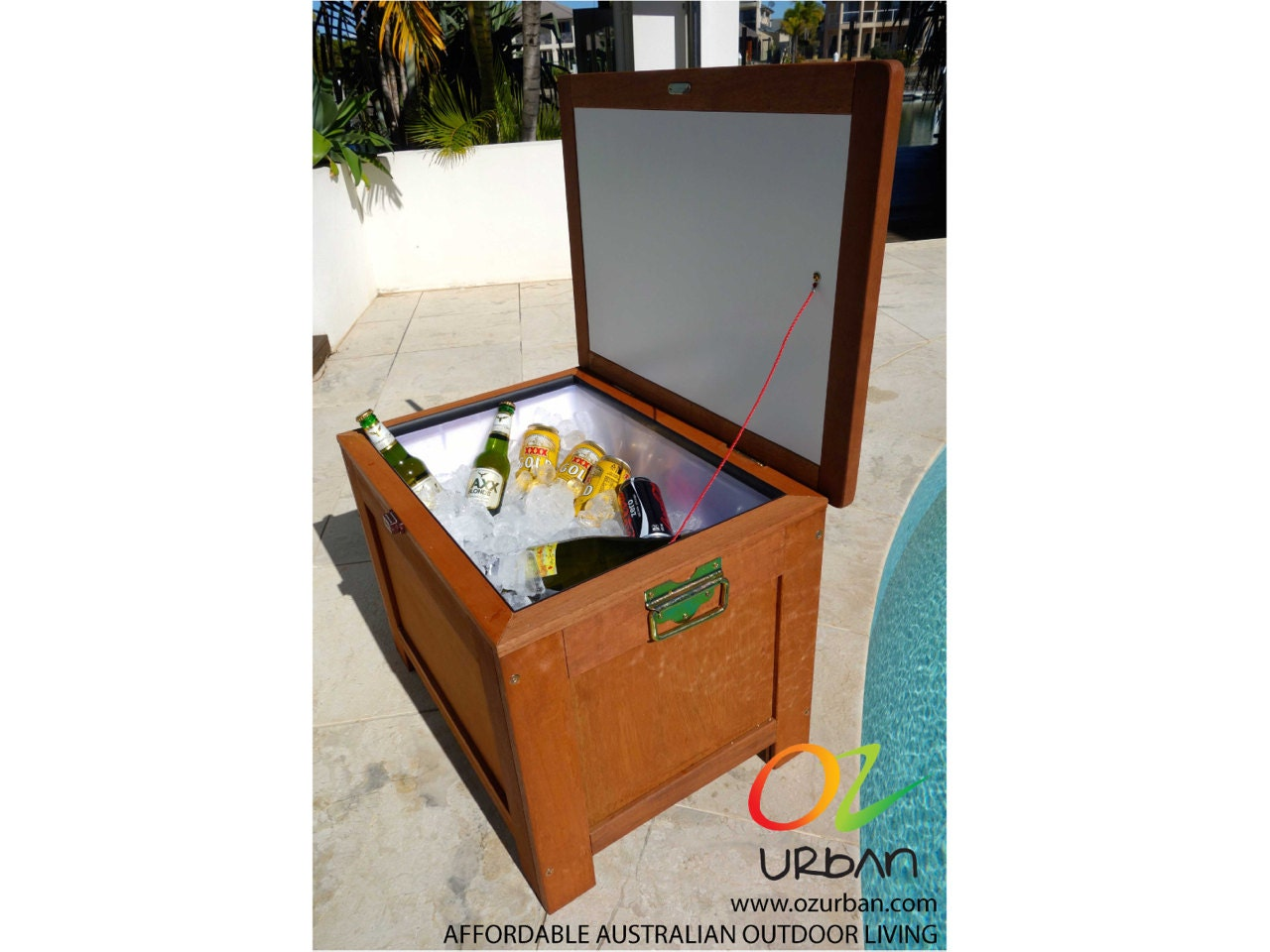 Ice Chest Outdoor Timber: Wooden Esky Ice Box. New By OzUrban