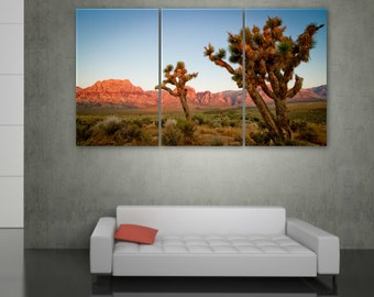 Joshua Tree National Park on Canvas - Large Canvas Wall Art, Wall art, Canvas art, Canvas art, Photo art wall, poster