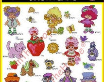 Strawberry Shortcake Machine Embroidery Designs PES HUS JEF Instant Download
