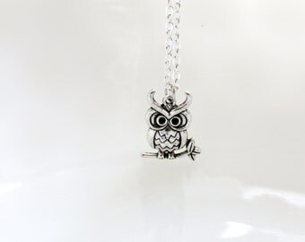 Owl Necklace, Owl Jewelry,  Owl Necklace Jewelry