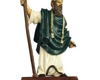 54mm scale Saint Patrick Painted Pewter Miniature - IHP1