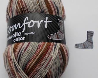 sock yarn, brown-light gray, 4ply (214.08)