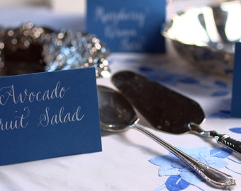 Buffet Cards in Hand Calligraphy - Food Labels