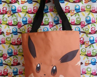 Cute Pokemon Mini Tote Bag Anime Eevee Dog