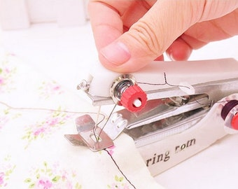 mini sewing machine household wares manual small pocket size portable sewing machine with needle