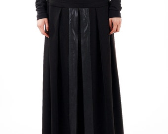 Long leather skirt   Etsy