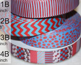 Cat in the Hat  &  Dr. Seuss inspired grosgrain ribbon  R48 B