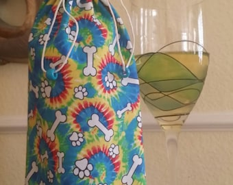 Gourmet Wine Bag-Pooch Collection (Tie Dyed)