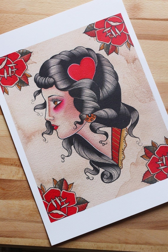 Unavailable listing on etsy for Tatuaggi donne pin up