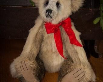 """Lucas, 19"""" OOAK Faux Fur Artist Bear by Patricia Bruce Bears"""