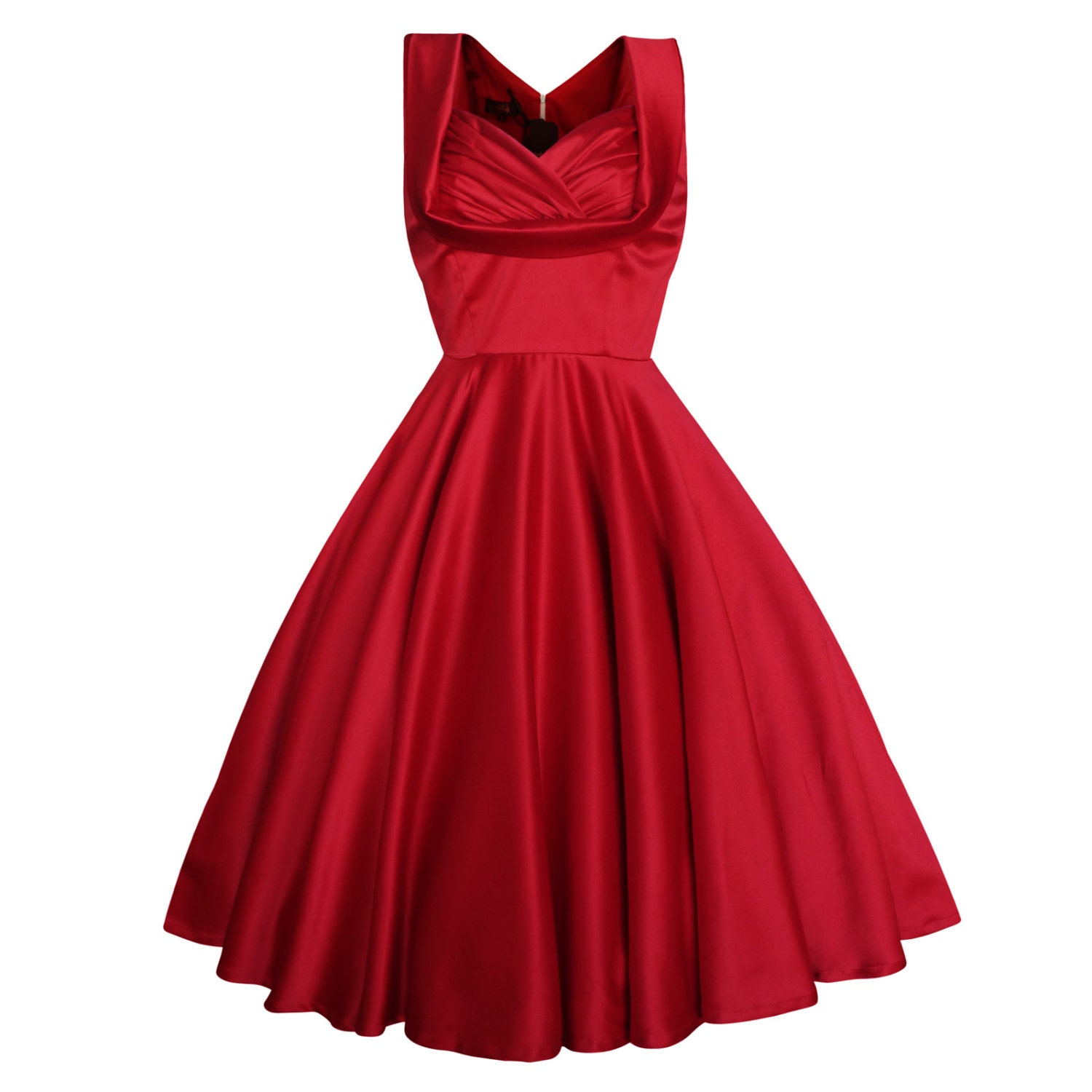 Red christmas dress bridesmaid dress vintage by for Dresses to wear to a christmas wedding