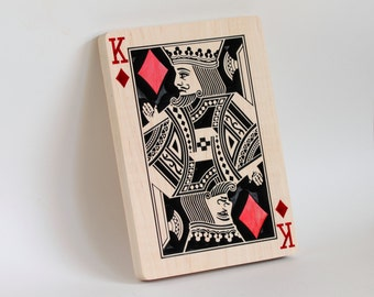 King of Diamonds - Carving