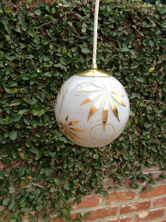 Retro Hanging Globe Light Fixture