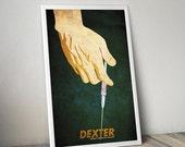 Dexter poster alternative Dexter poster tv poster Michael C Hall poster Dexter Morgan poster