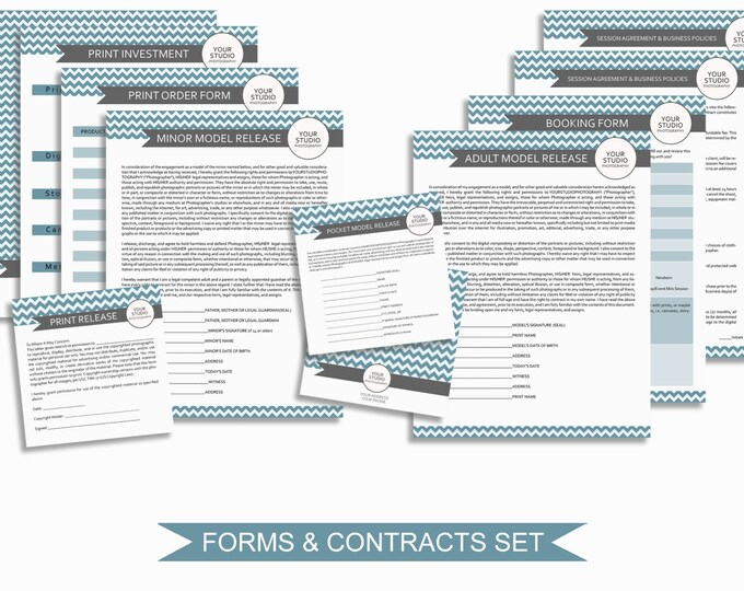 Photography Business Forms and Contracts - Photo Marketing Templates for Photographers - Print Release - Copyright Agreement - MBFT01