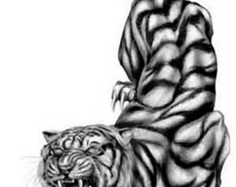 Tiger Temporary Fake Tattoo Bold Body Art Transfer Waterpoof Fancy Dress