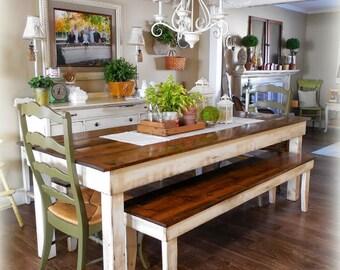 Handmade Primitive Farm Table Etsy