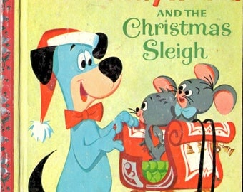 Huckleberry Hound and the Christmas Sleigh Little Golden Book