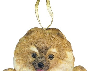 Pomeranian Ornament With Personalized Name Plate A Great Gift For  Pomeranian Lovers