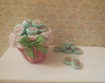 1:12 DOLLHOUSE  Green soap pads, wrapped with label