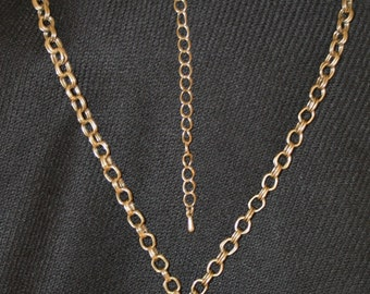 Old Gold and Gold Tone Necklace