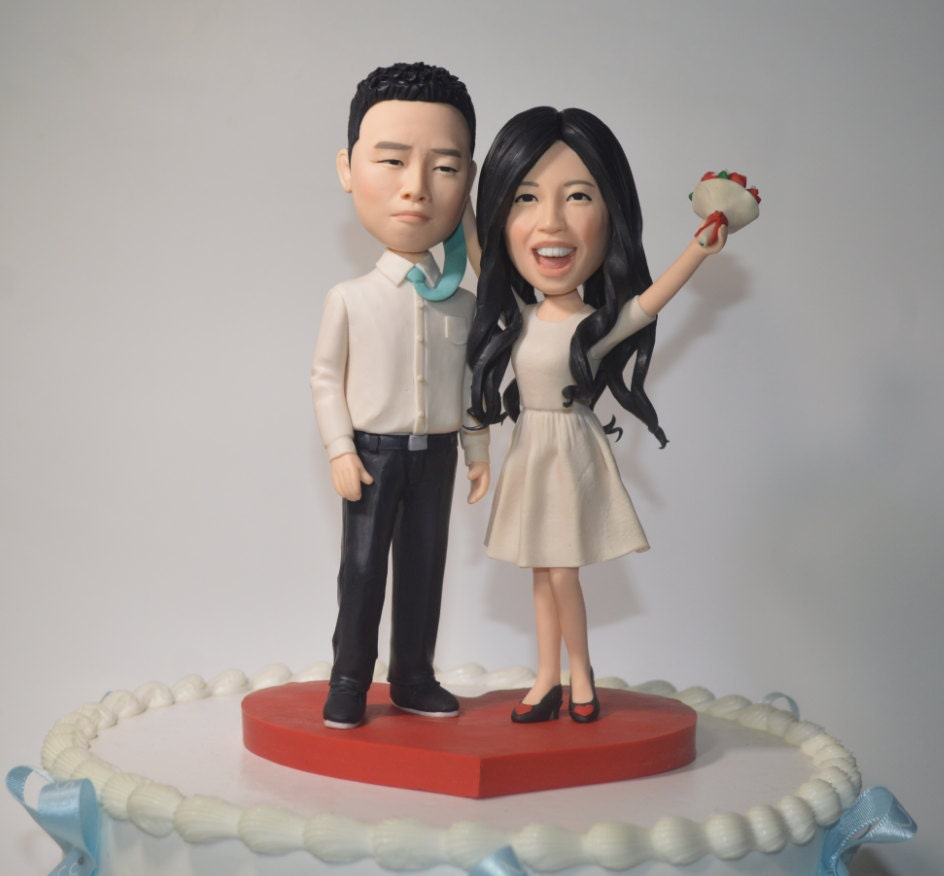personalized cartoon wedding cake toppers wedding cake topper personalized toppers 18261