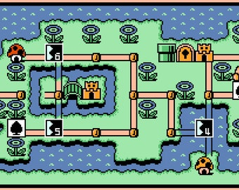 Super Mario Bros. 3 World 4 Map -- Cross Stitch Pattern!
