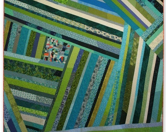 Scrappy and Colourful One-of-a-Kind Crazy Queen-sized Bed Quilt