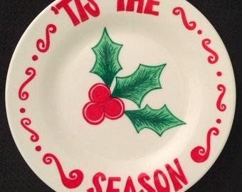 Holly 'Tis The Season Plate