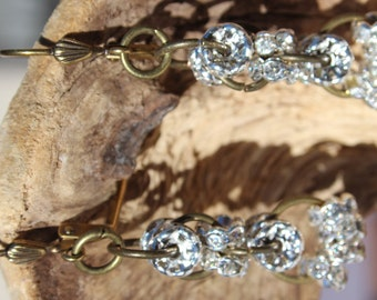 Cascading Crystal Rondelle Earrings