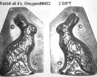 Rabbit chocolate mold - Rabbit on all 4's by Weygandt of NYC. Just in time for Easter Vintage metal
