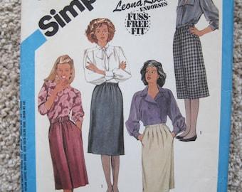 UNCUT Misses Skirts - Simplicity Sewing Pattern 6527 - Vintage 1984