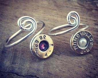 Single Shot Bullet Ring. Single Bullet Head Ring