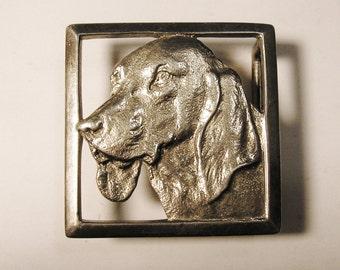 Sterling Silver DOG Belt Buckle, vintage unsold store stock