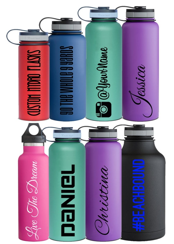 Name Decals Personalized For Hydro Flask And Other Water