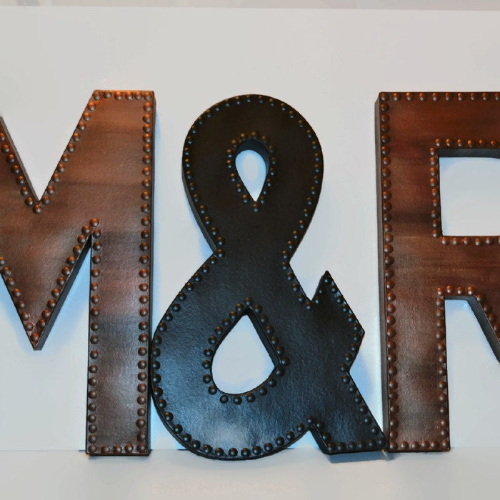 Faux Metal Letter Large Faux Metal Letters by EllaMurphyDesigns